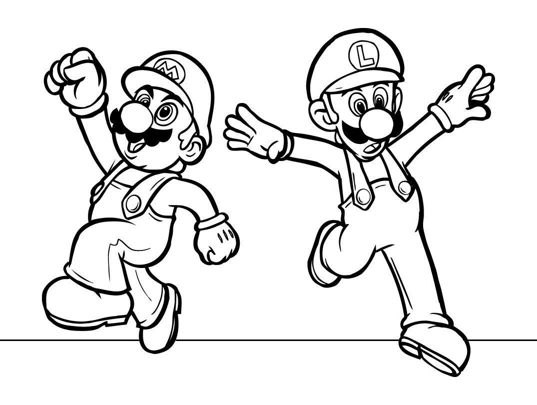 Desenhos Para Pintar De Mario Bros  Desenhos Para Colorir De Mario