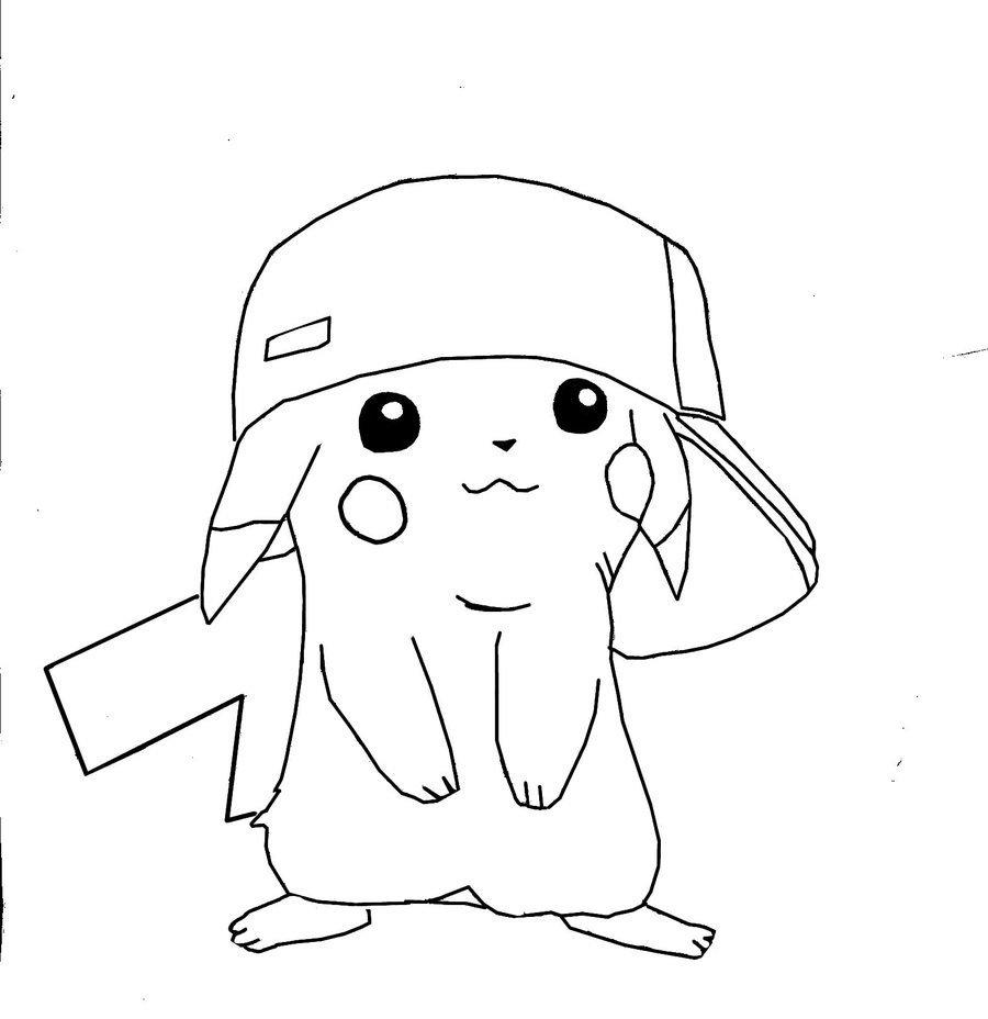 Imagens Do Pikachu Para Colorir