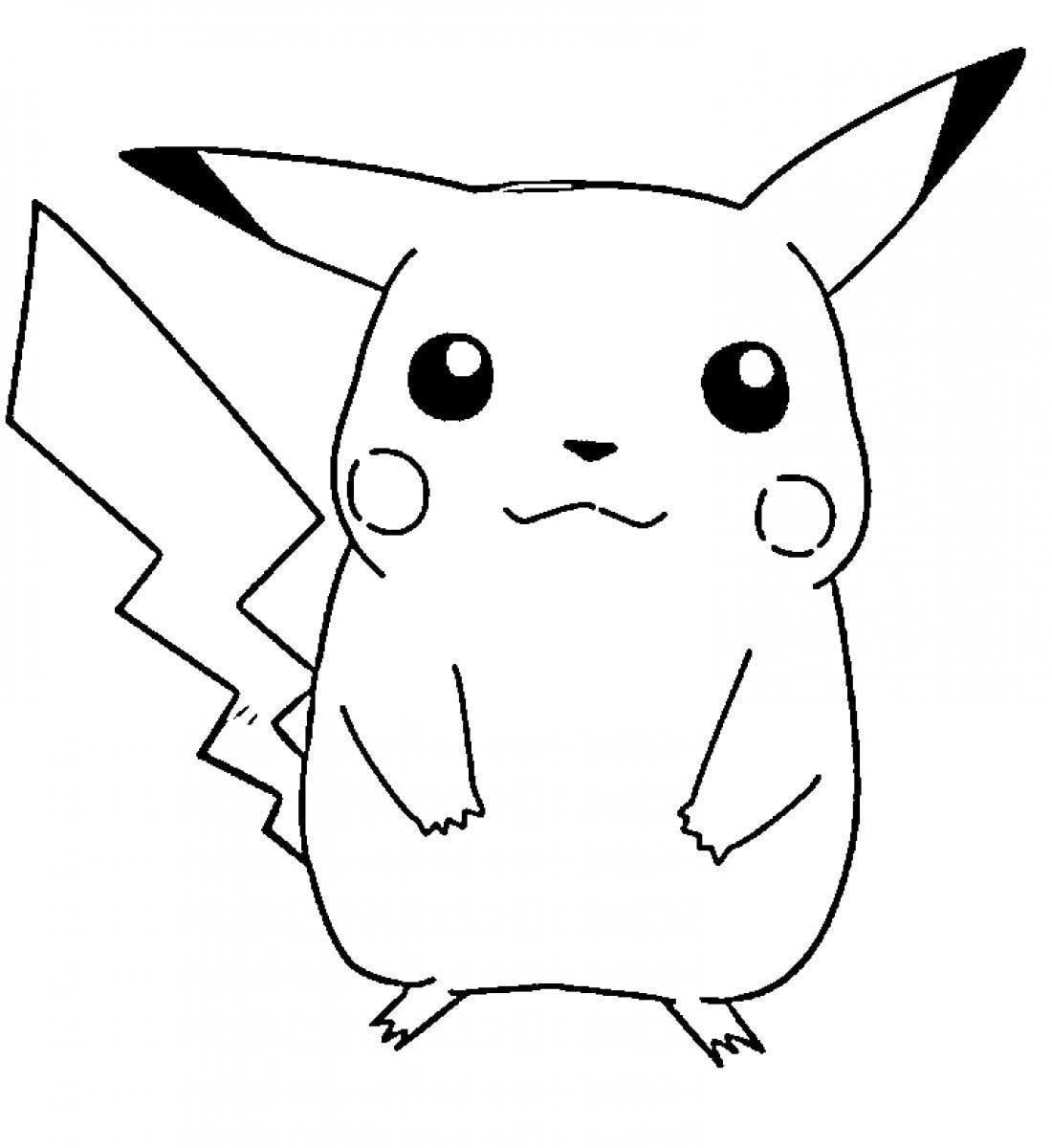 Desenhos Para Pintar De Pokémon  Desenhos Para Colorir De Pikachu