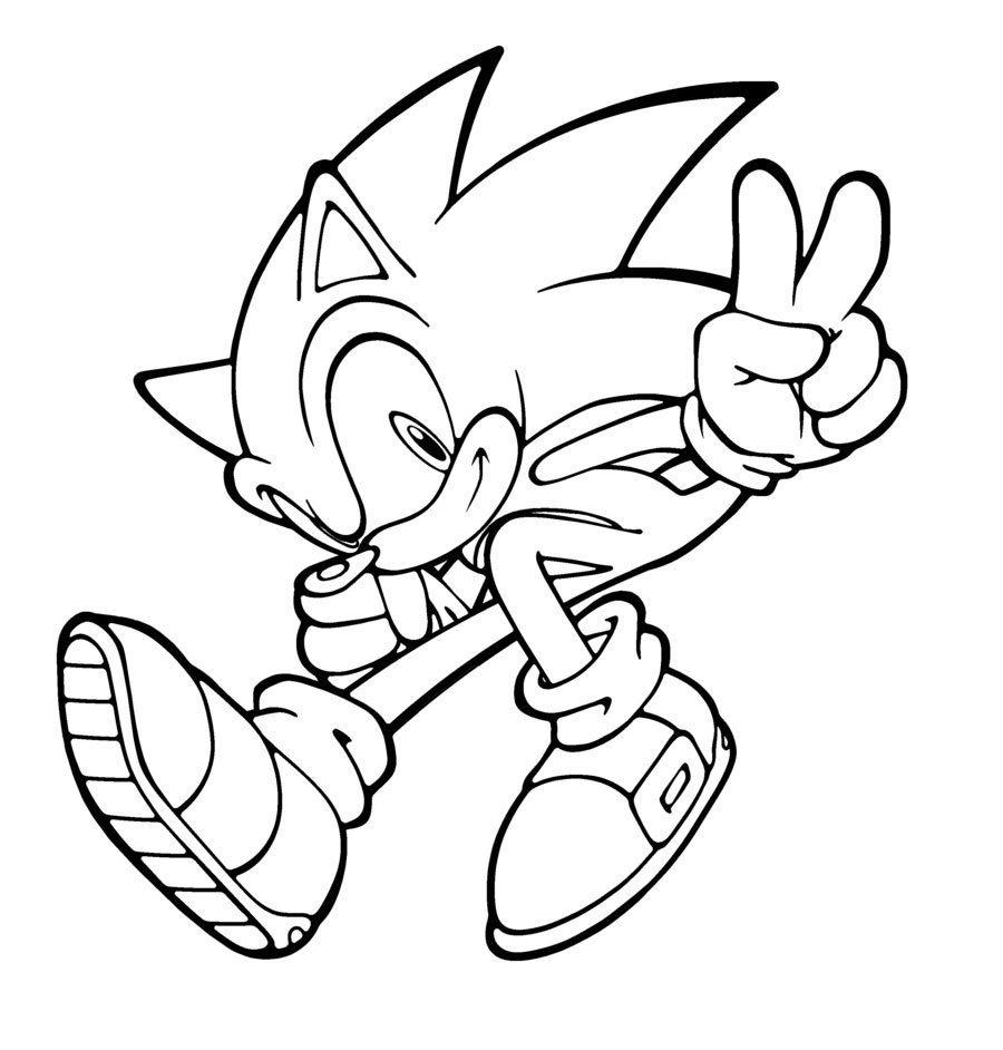 Desenhos Para Pintar De Sonic  Desenhos Para Colorir De Sonic