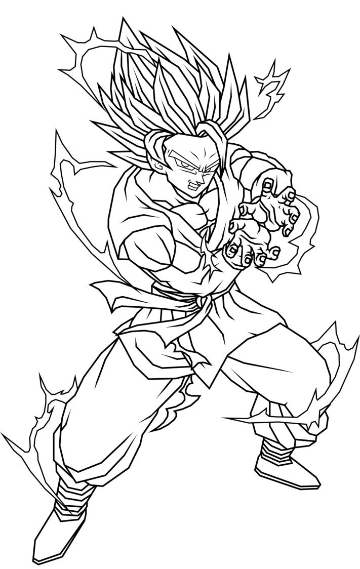Desenhos Para Pintar Do Dragon Ball Colorir Sketch Coloring Page