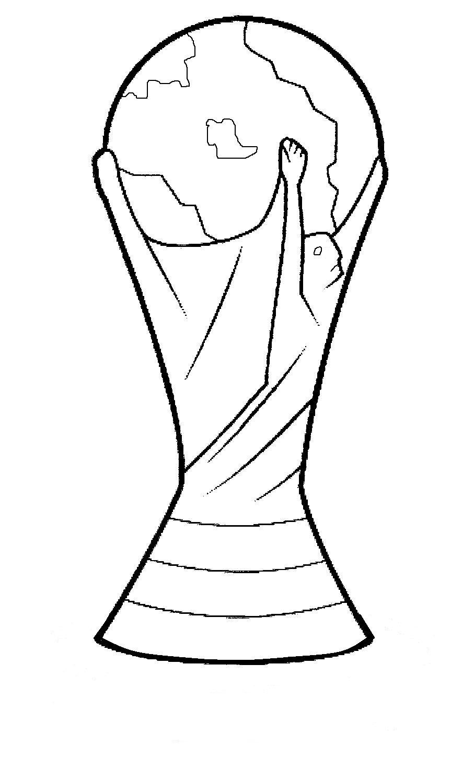 Desenhos Para Pintar E Imprimir Da Copa Do Mundo 2014