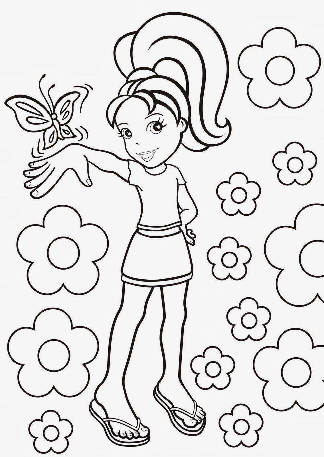 Desenhos Polly Para Colorir