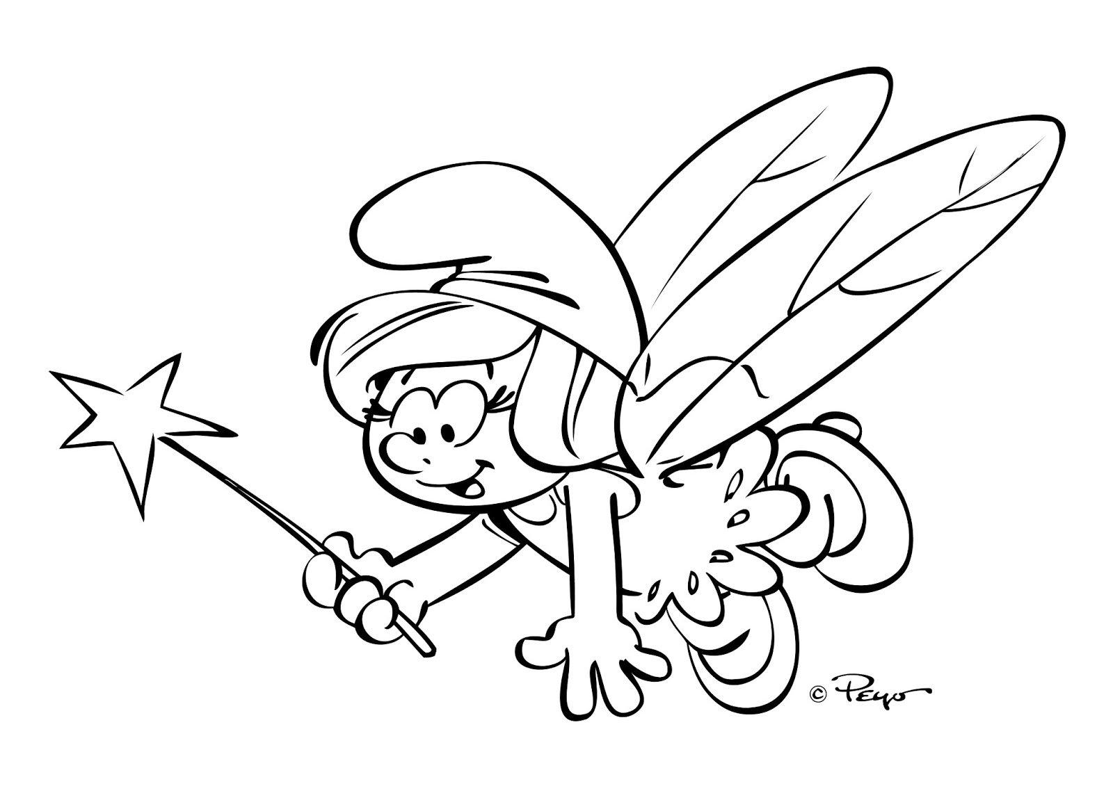 Dibujos Ideia Criativa  Desenho Os Smurfs Para Colorir
