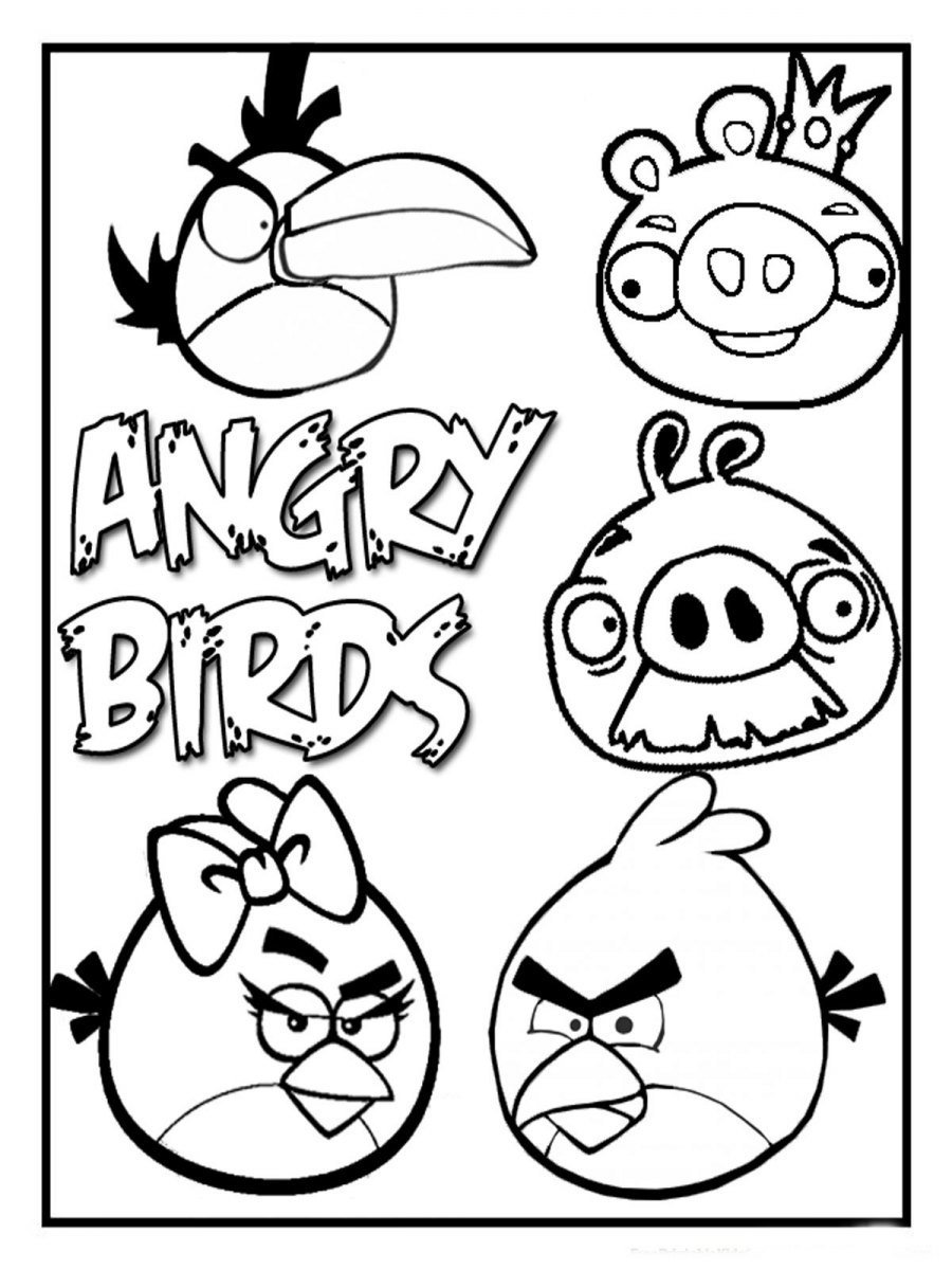 Dibujos Para Pintar De Angry Birds  Dibujos Para Colorear De Angry