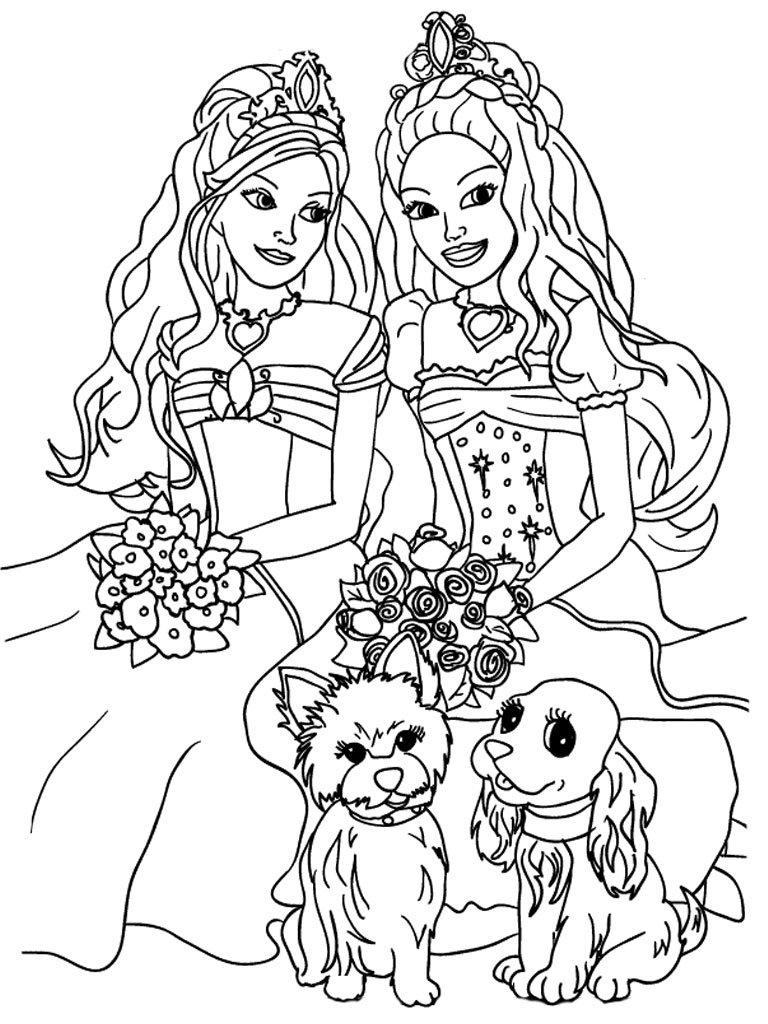 Dibujos Para Pintar De Princesas Para Imprimir Y Colorear