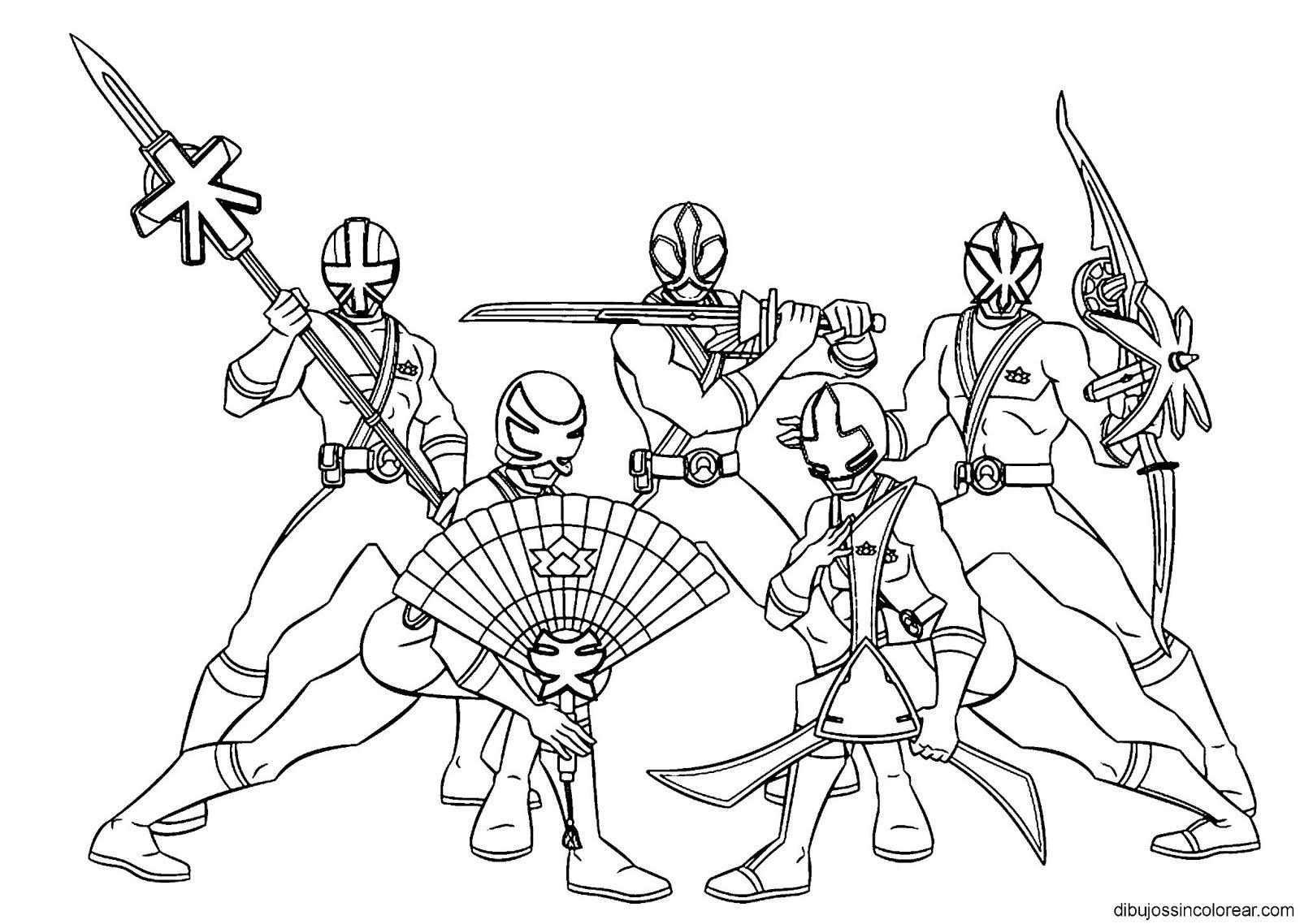 Dibujos Sin Colorear  Dibujos De Personajes De Power Rangers