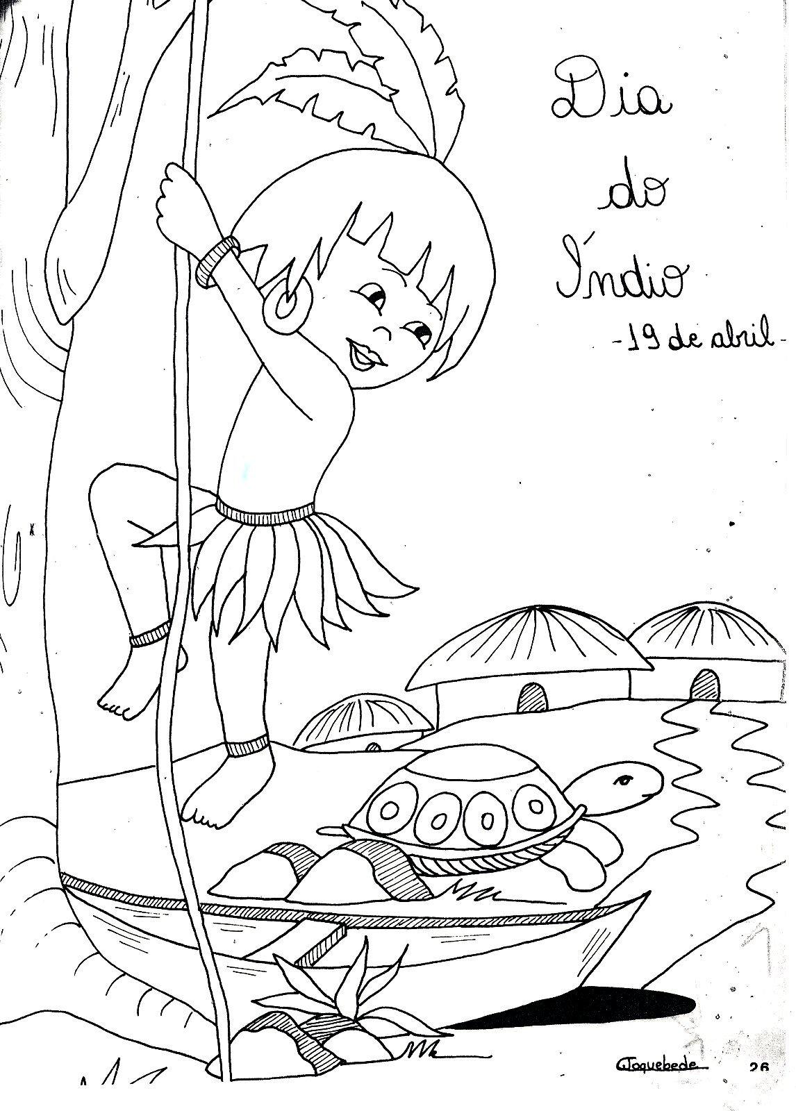 Dicas De Desenhos Do Dia Do Índio Para Imprimir E Colorir