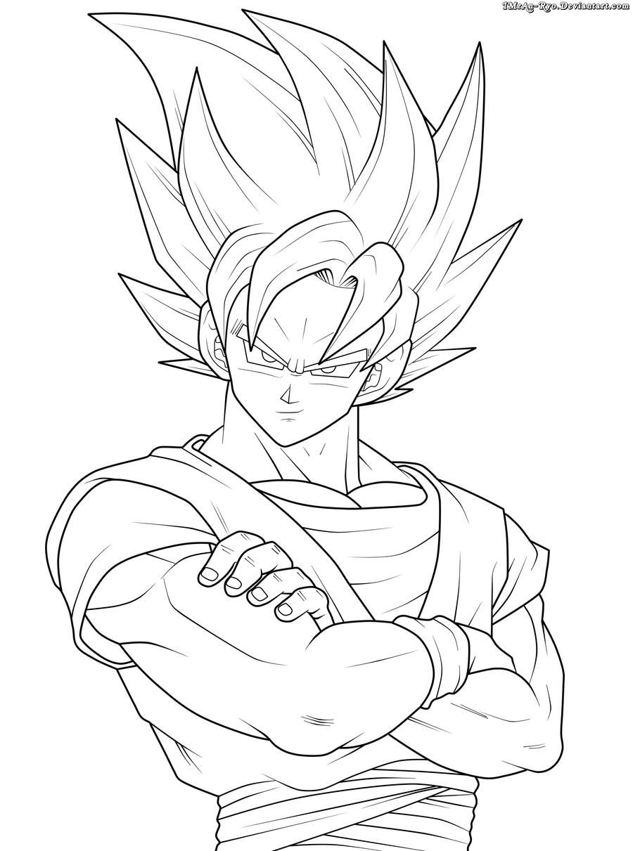 Imagens De Goku Para Colorir