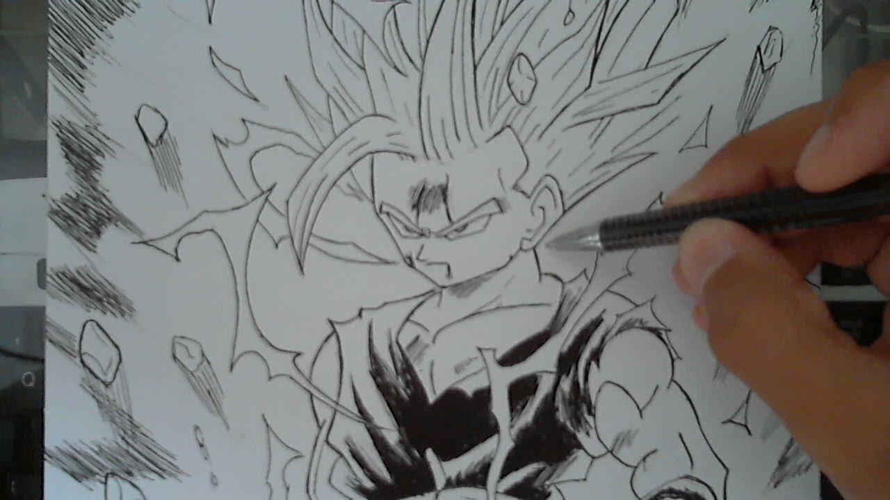Drawing Gohan Tribute