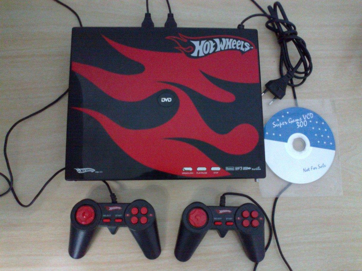 Dvd Mp3 Usb Karaokê Hot Wheels + Cd 300 Jogos (tem Defeito)