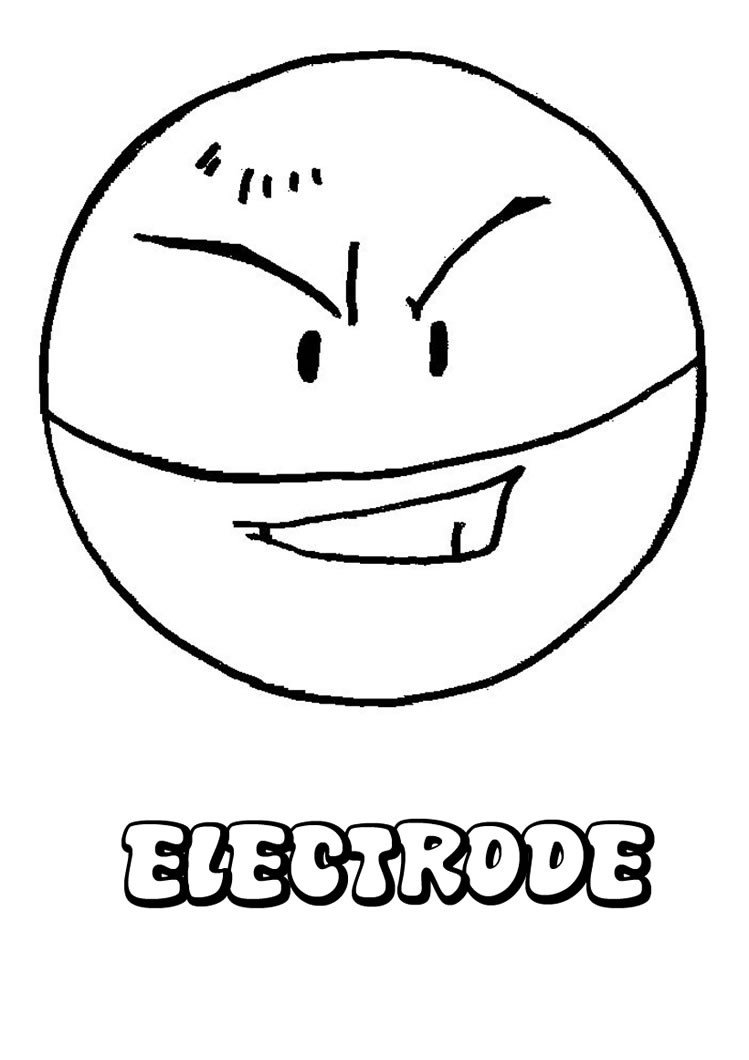 Electric Pokemon Coloring Pages