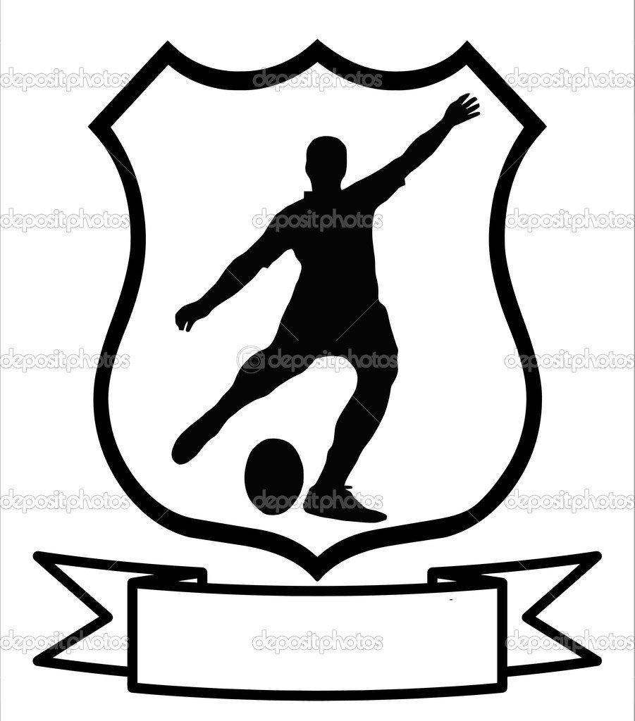 Escudo De Esporte Futebol Rugby — Vetores De Stock © Cd123  6365190
