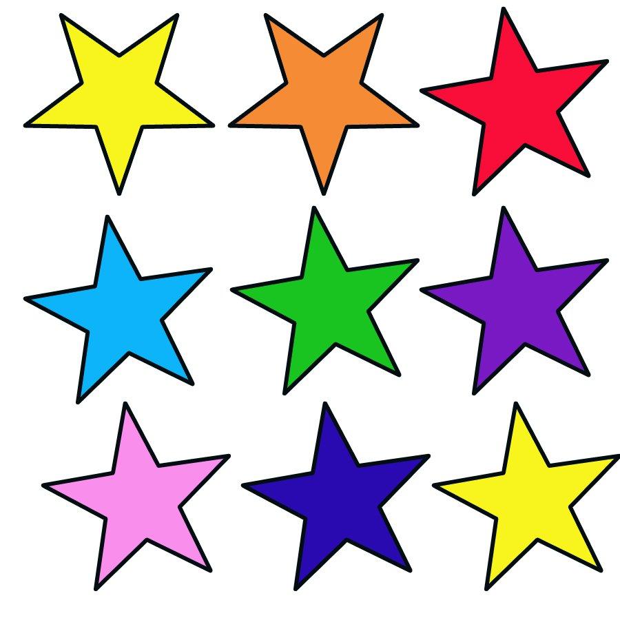 Estrelas Coloridas Para Recortar