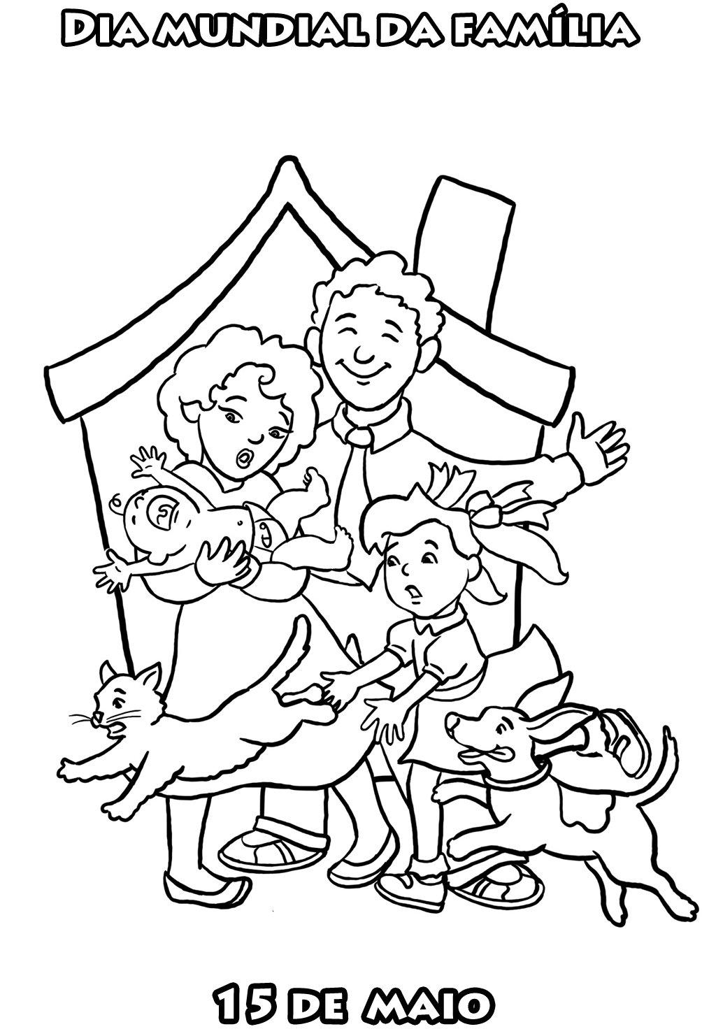 Familia Para Colorir