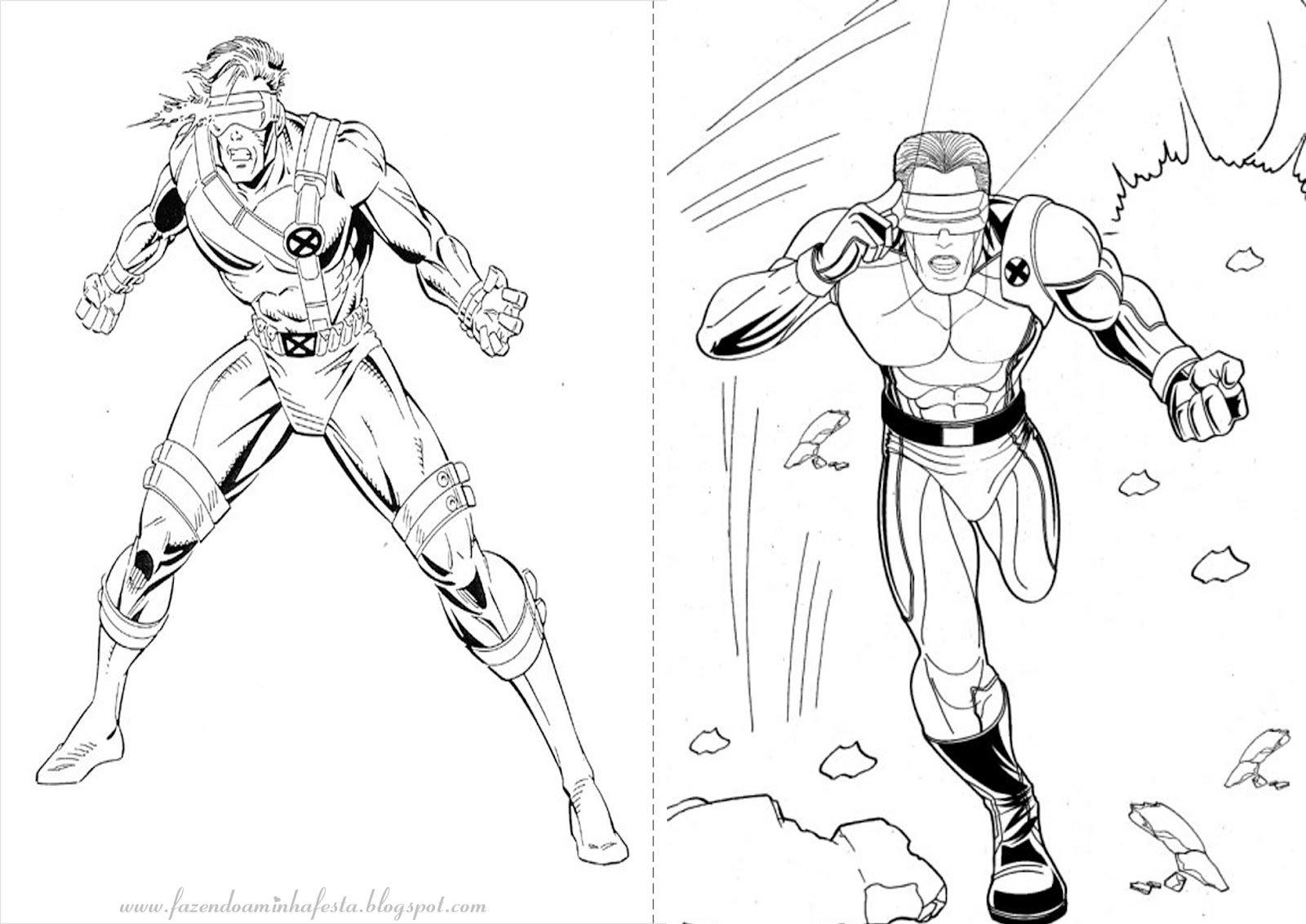 X Men Para Colorear: Desenhos Para Colorir X Men