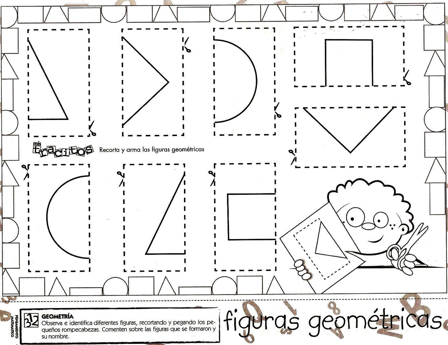 Desenhos Com Figuras Geometricas Para Colorir