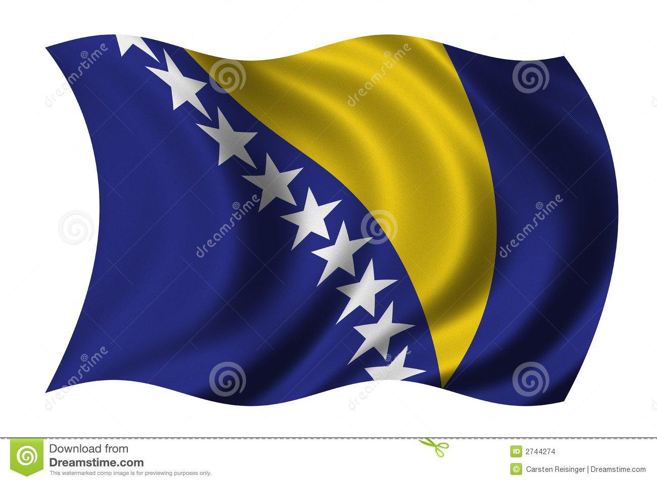 Flag Of Bosnia Herzegovina Stock Images