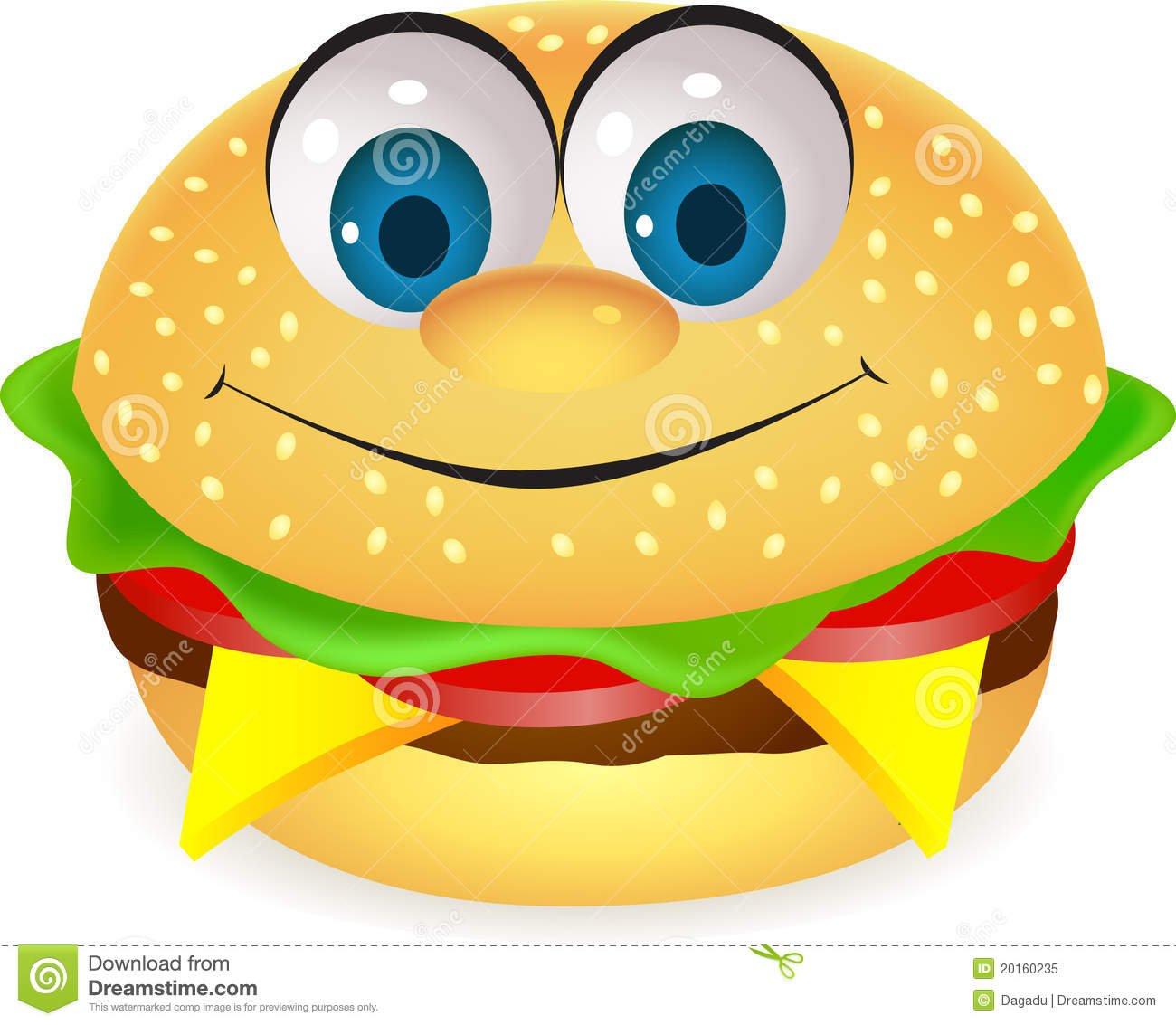 Foto De Stock Royalty Free  Funny Burger Cartoon  Imagem  20160235