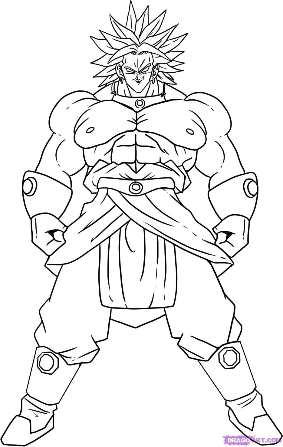 Free Printable Dragon Ball Z Coloring Pages For Kids
