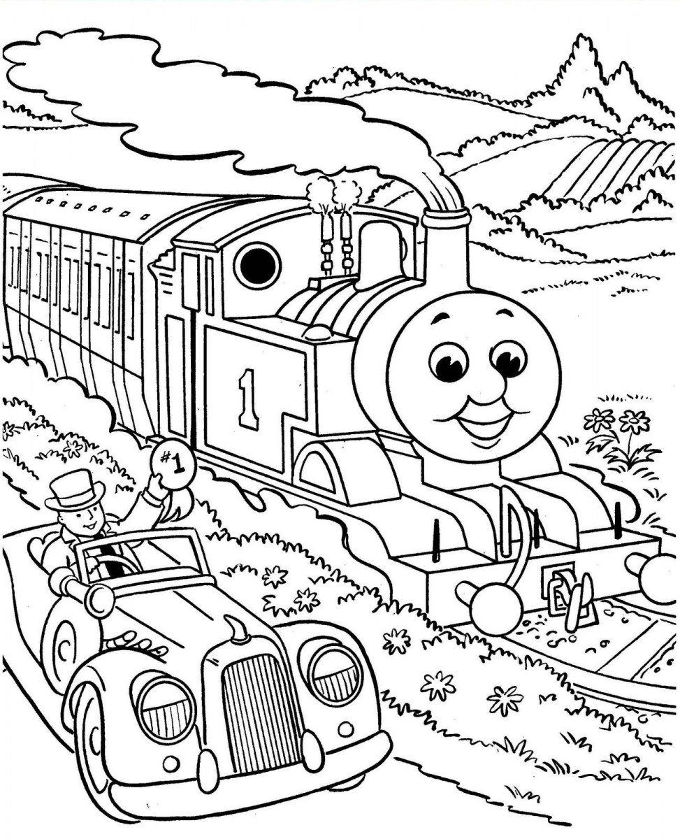 Galeria De Desenhos Do Thomas E Os Seus Amigos Sketch Coloring Page