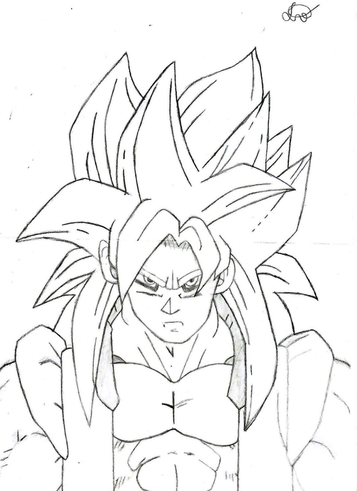 Gamedukz  Desenho Da Fusão Goku E Vegeta Ssj4