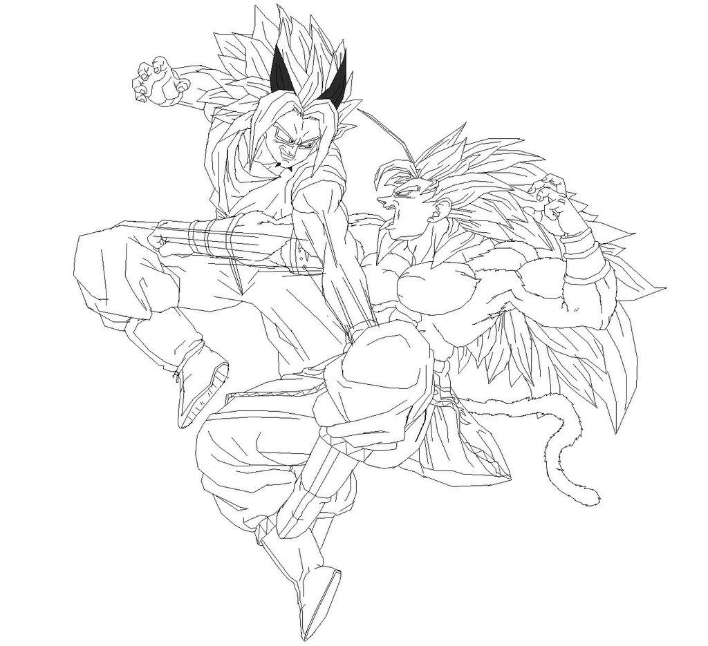 Goku Para Colorir