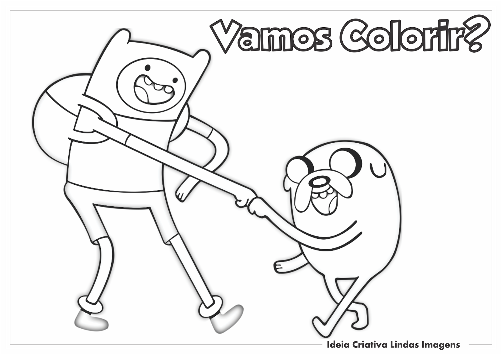 Ideia Criativa Lindas Imagens  Desenho Finn E Jake