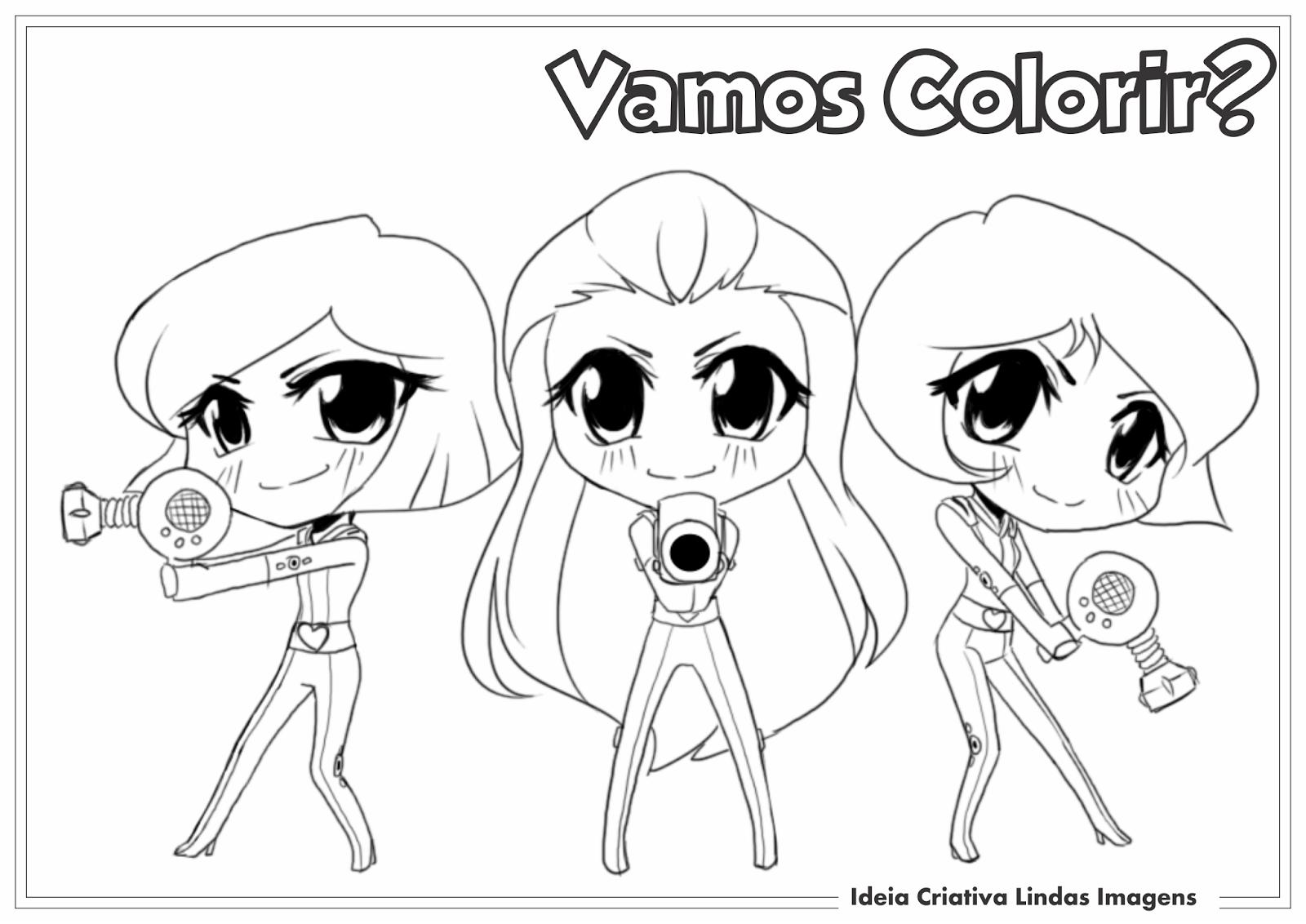 Ideia Criativa Lindas Imagens  Desenho Para Colorir Três Espiãs Demais