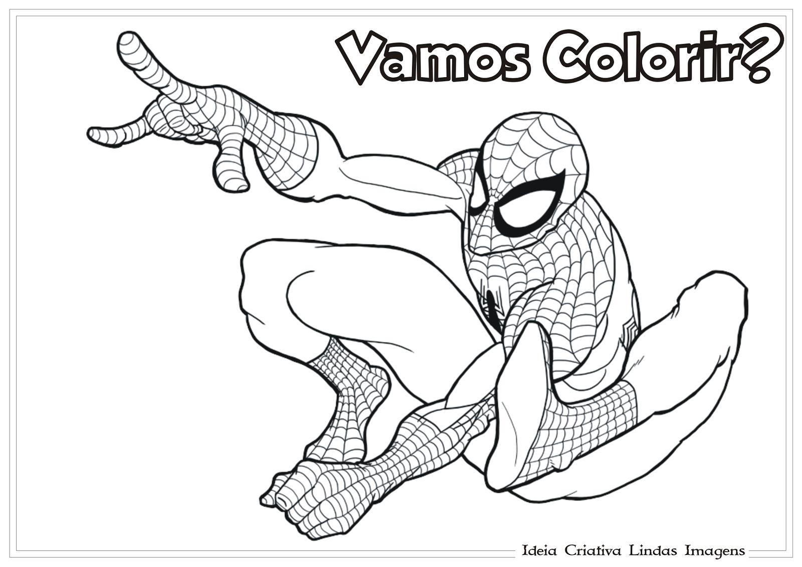 Ideia Criativa Lindas Imagens  Homem Aranha Desenho Para Colorir