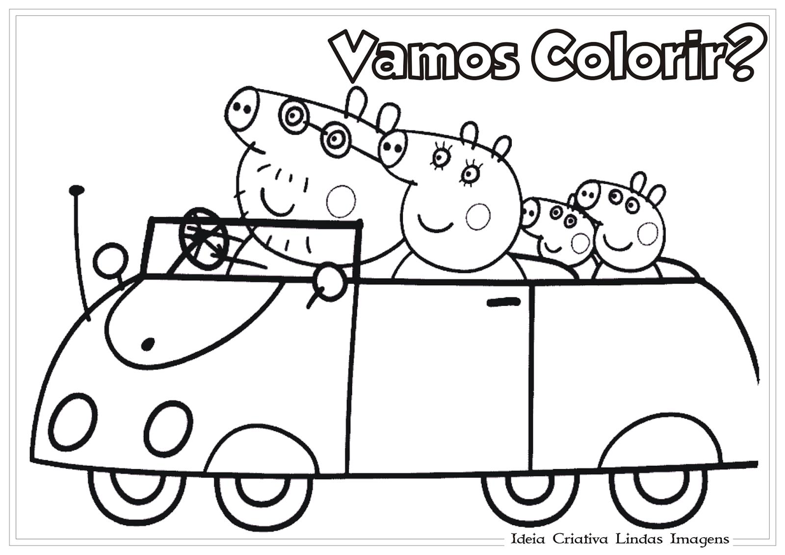 Ideia Criativa Lindas Imagens  Peppa Desenho Para Colorir