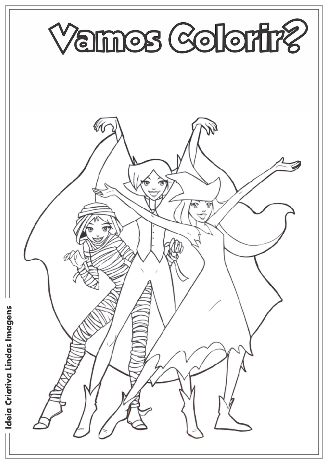 Ideia Criativa Lindas Imagens  Três Espiãs Demais Desenho Para Colorir