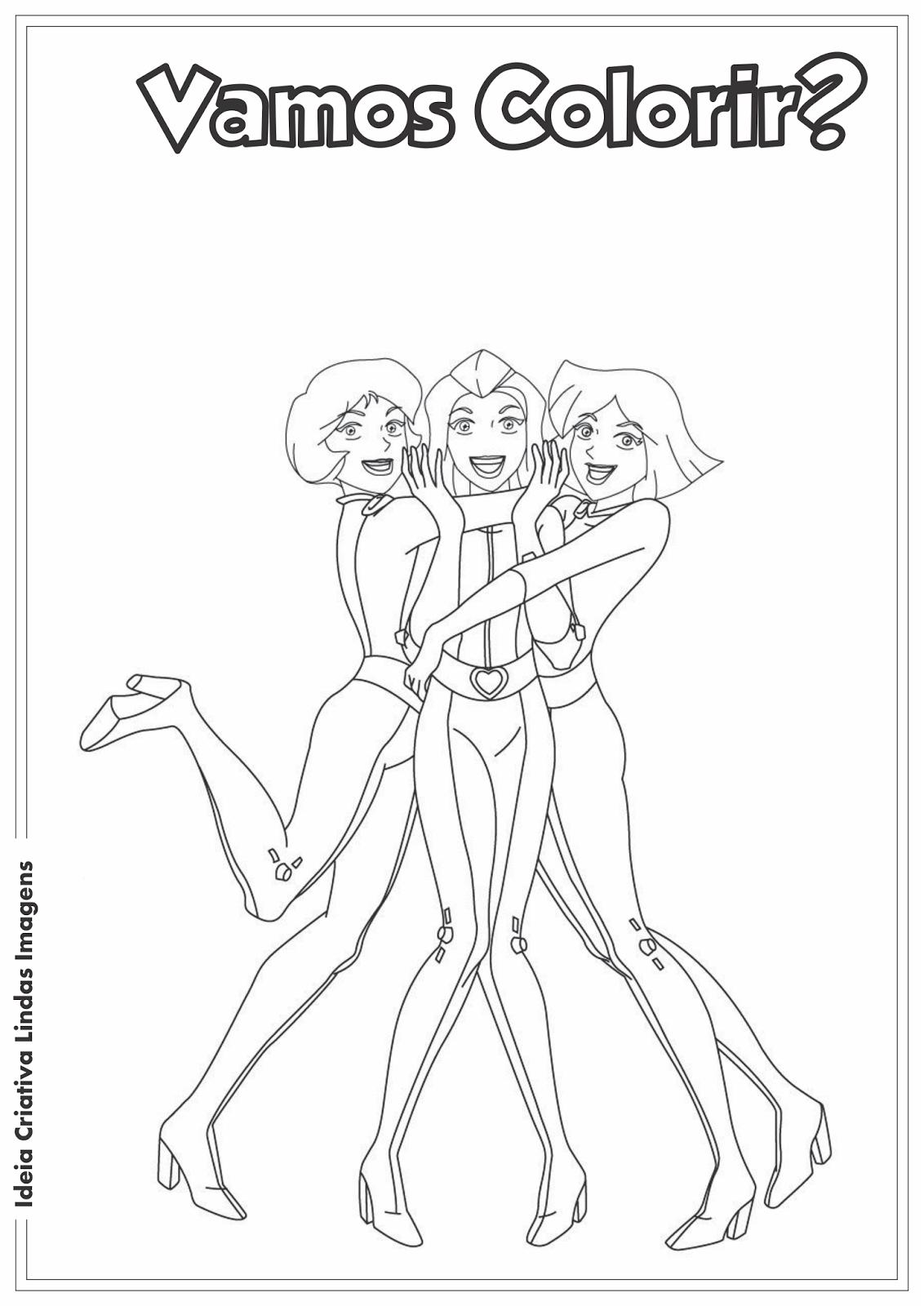 Ideia Criativa Lindas Imagens  Três Espiãs Demais Desenho Pra Colorir