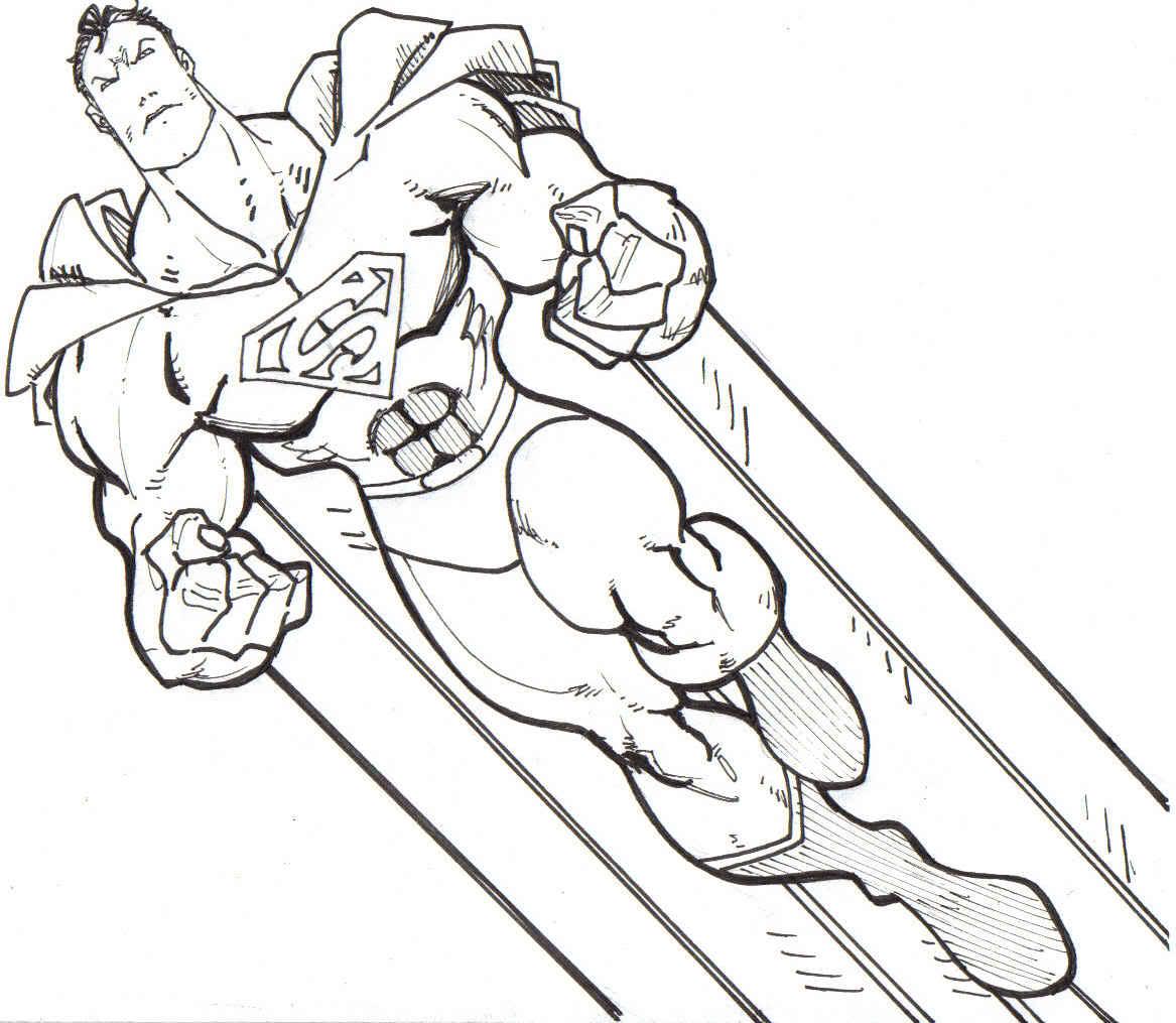 Imagem Para Colorir  Desenho Para Colorir Do Super Homem