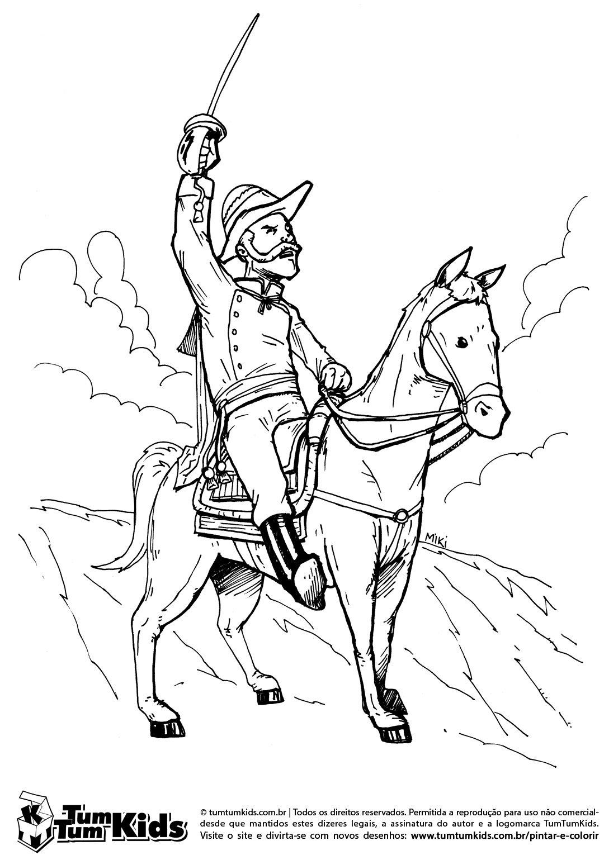 Imagens Da Independencia Do Brasil Para Pintar Sketch Coloring Page