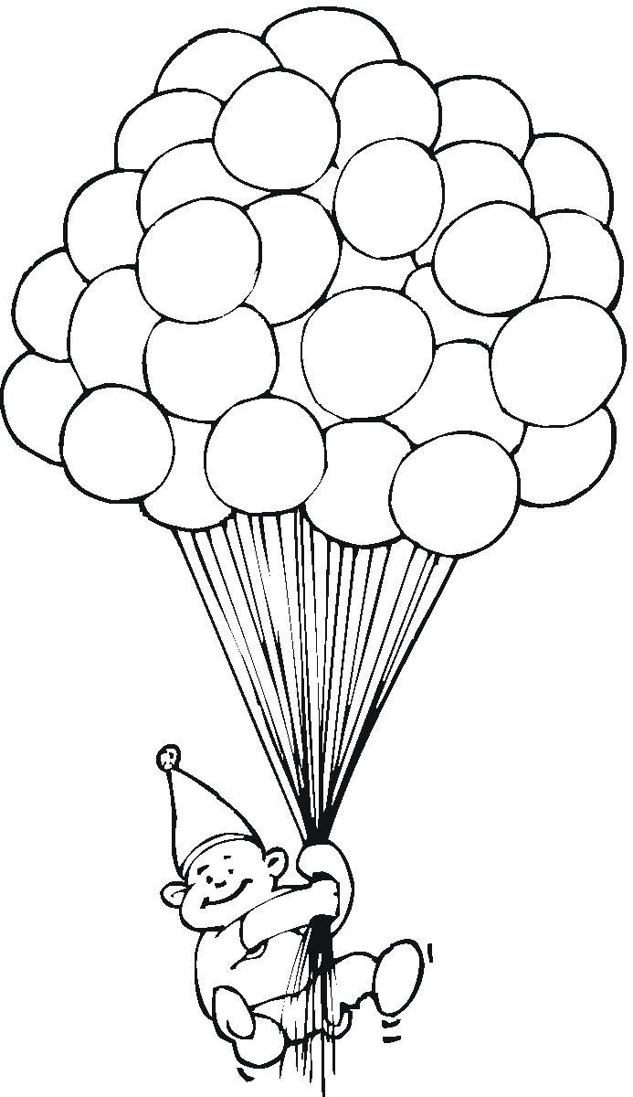 Imagens De Balões Para Pintar 1