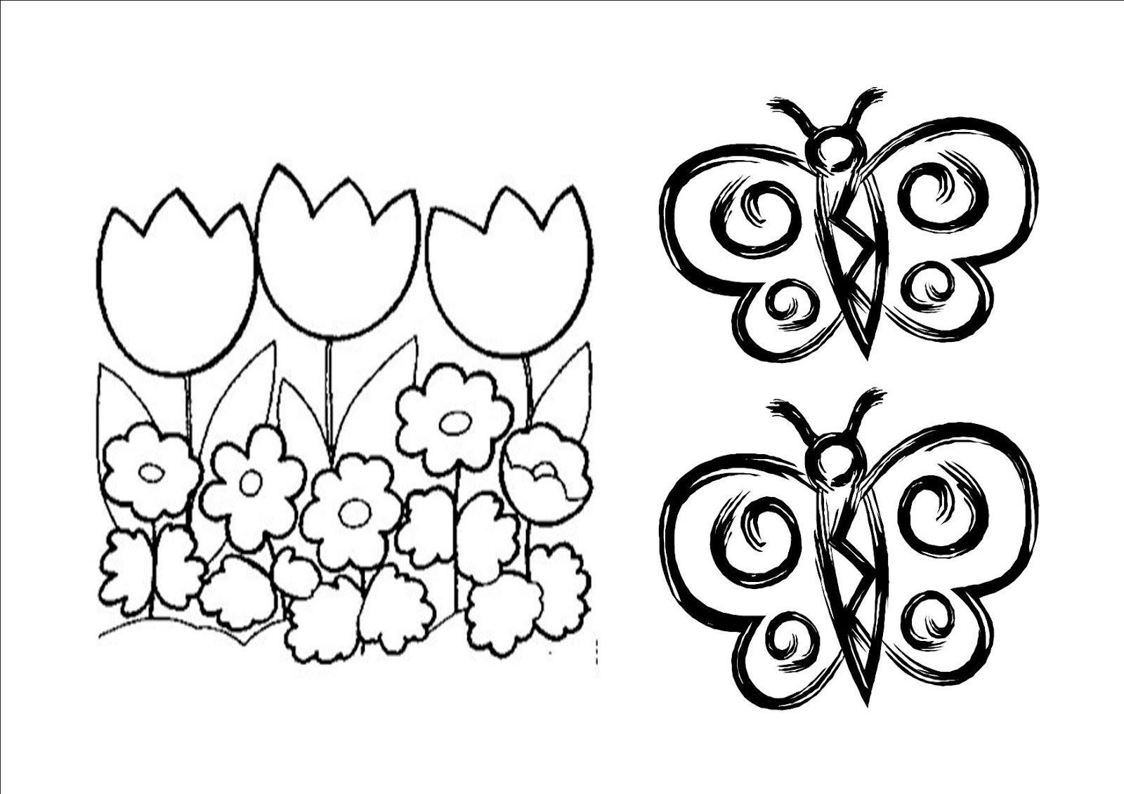 flores para colorir