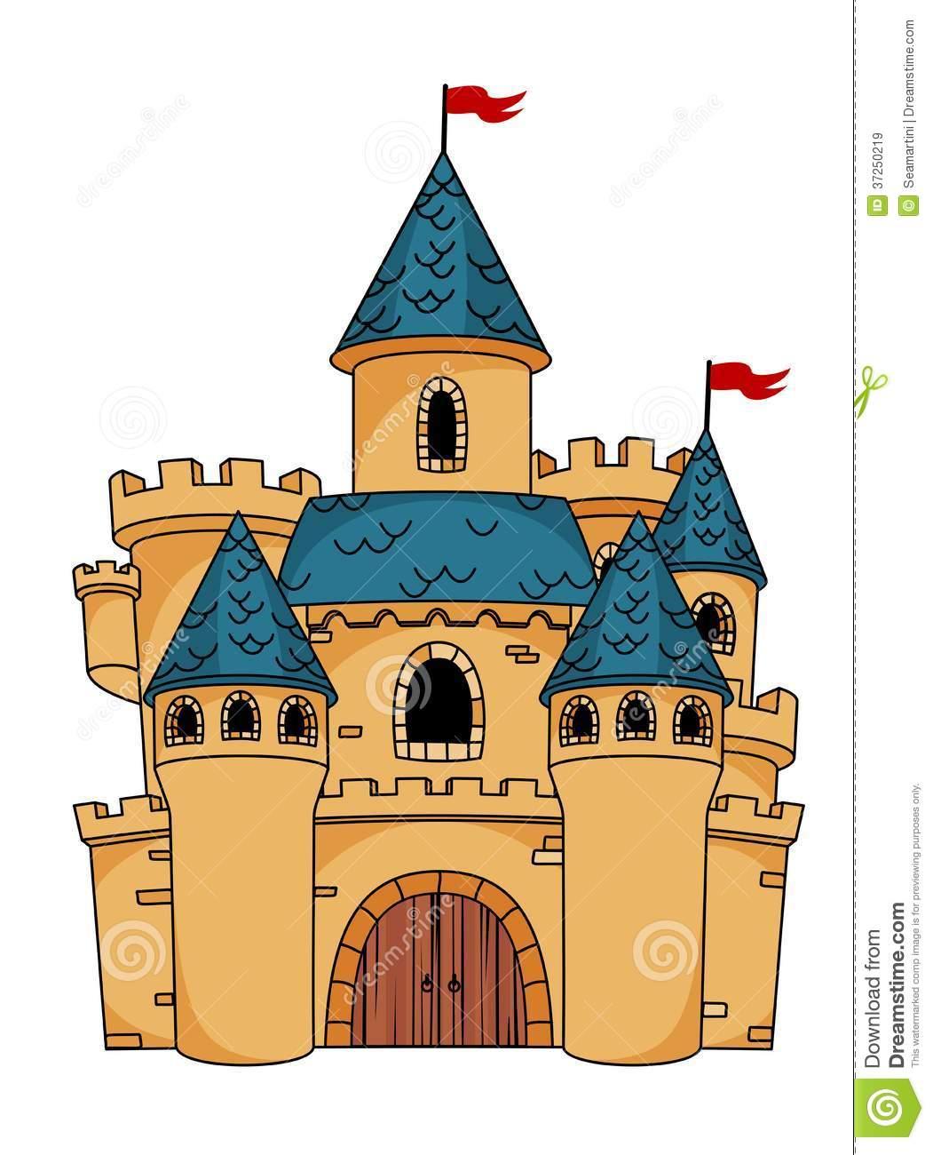 Imagens De Stock Royalty Free  Medieval Cartoon Castle  Imagem