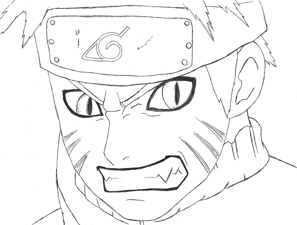 Imagens Para Colorir E Pintar  Desenho Para Colorir Do Naruto Uzumaki