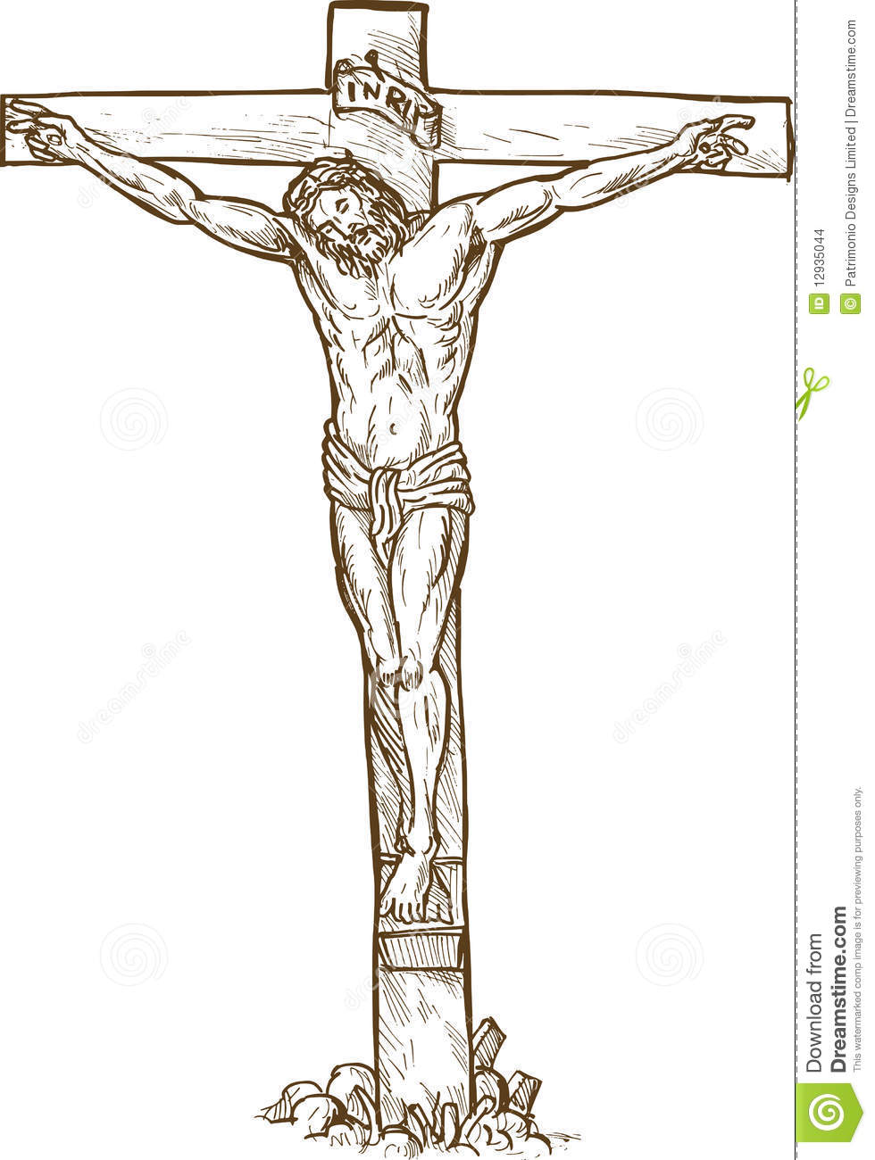 Jesus Christ Hanging On The Cross Stock Images