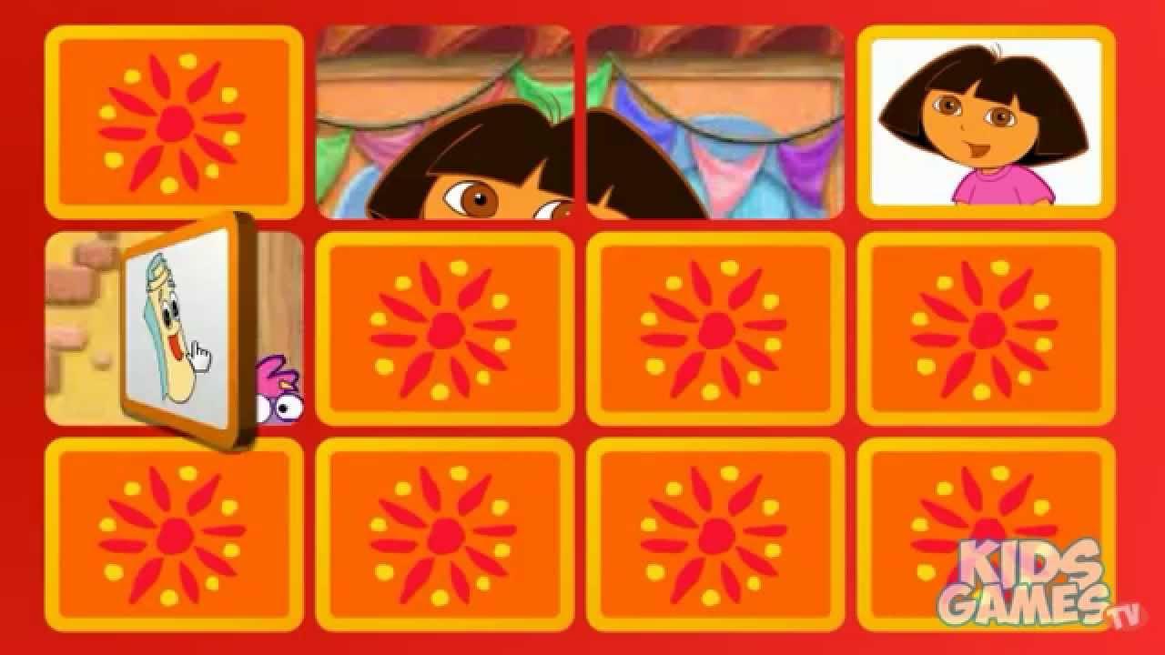 Jogo Da Velha Dora Aventureira   Dora's Matching Game