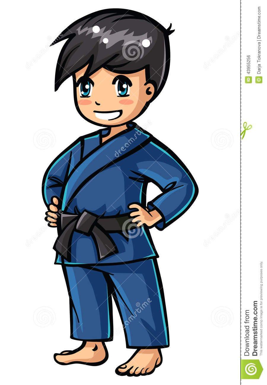 Judo Boy Stock Vector