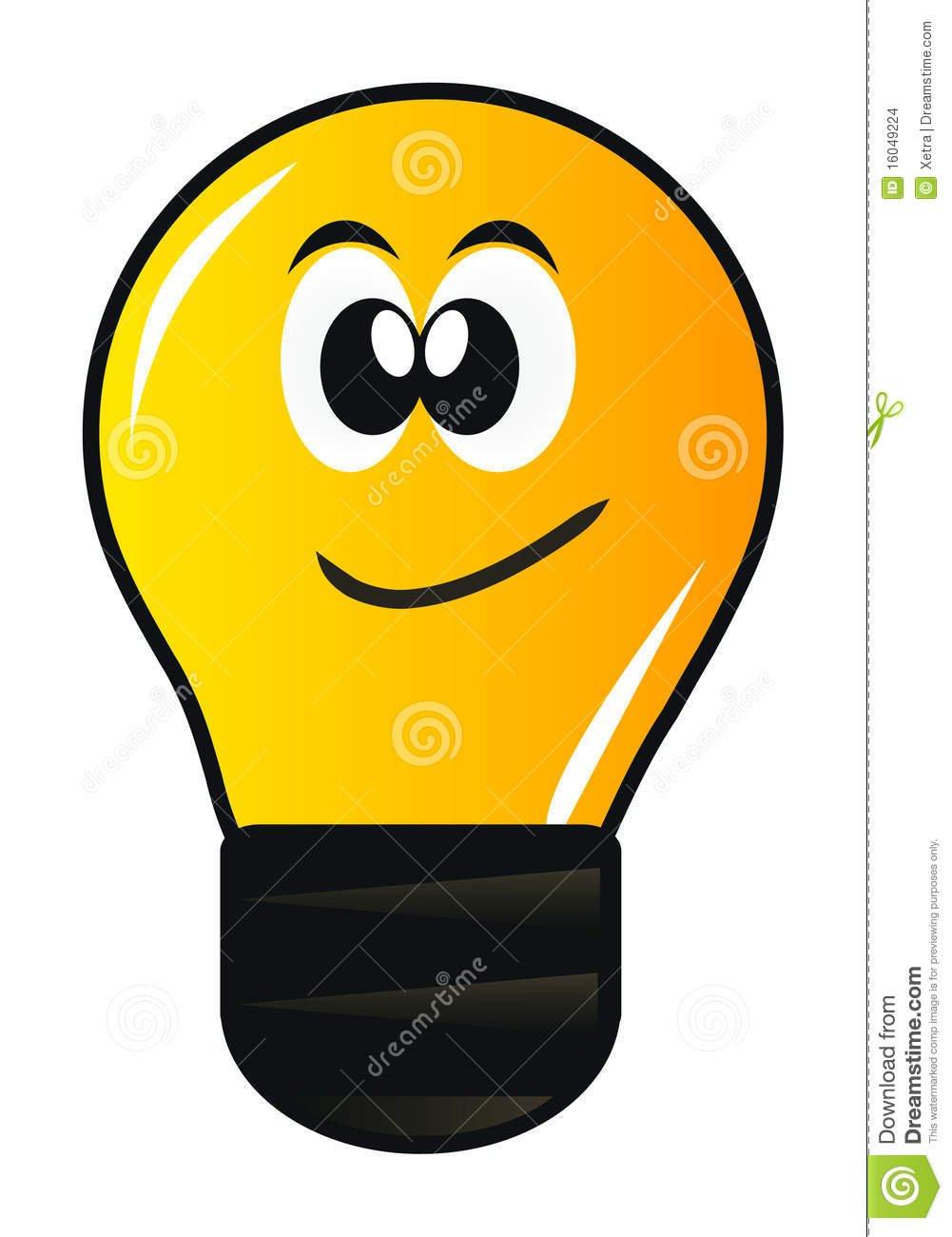 Lâmpada Dos Desenhos Animados Imagens De Stock