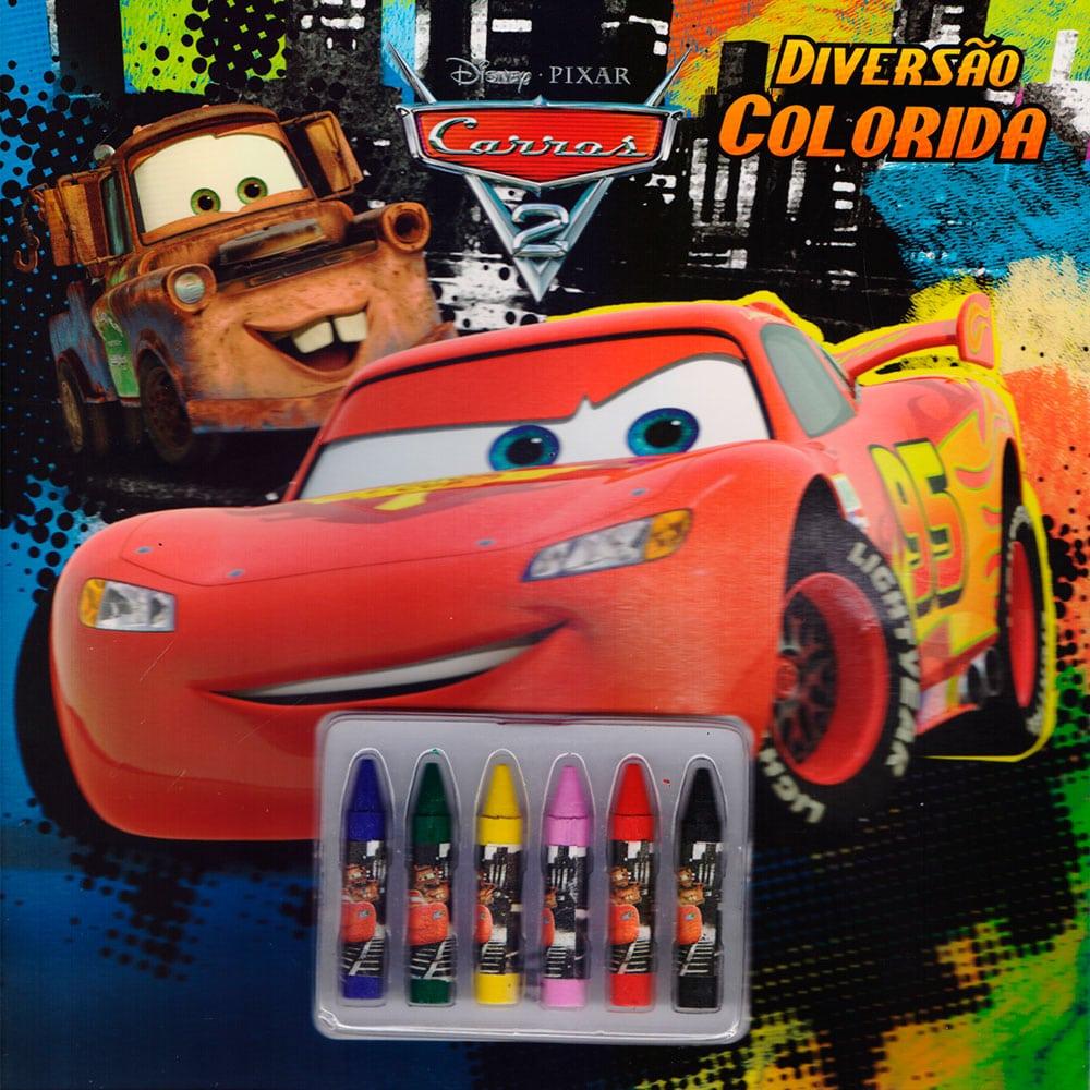 Livro Infantil Para Colorir Disney Carros 2 Dcl