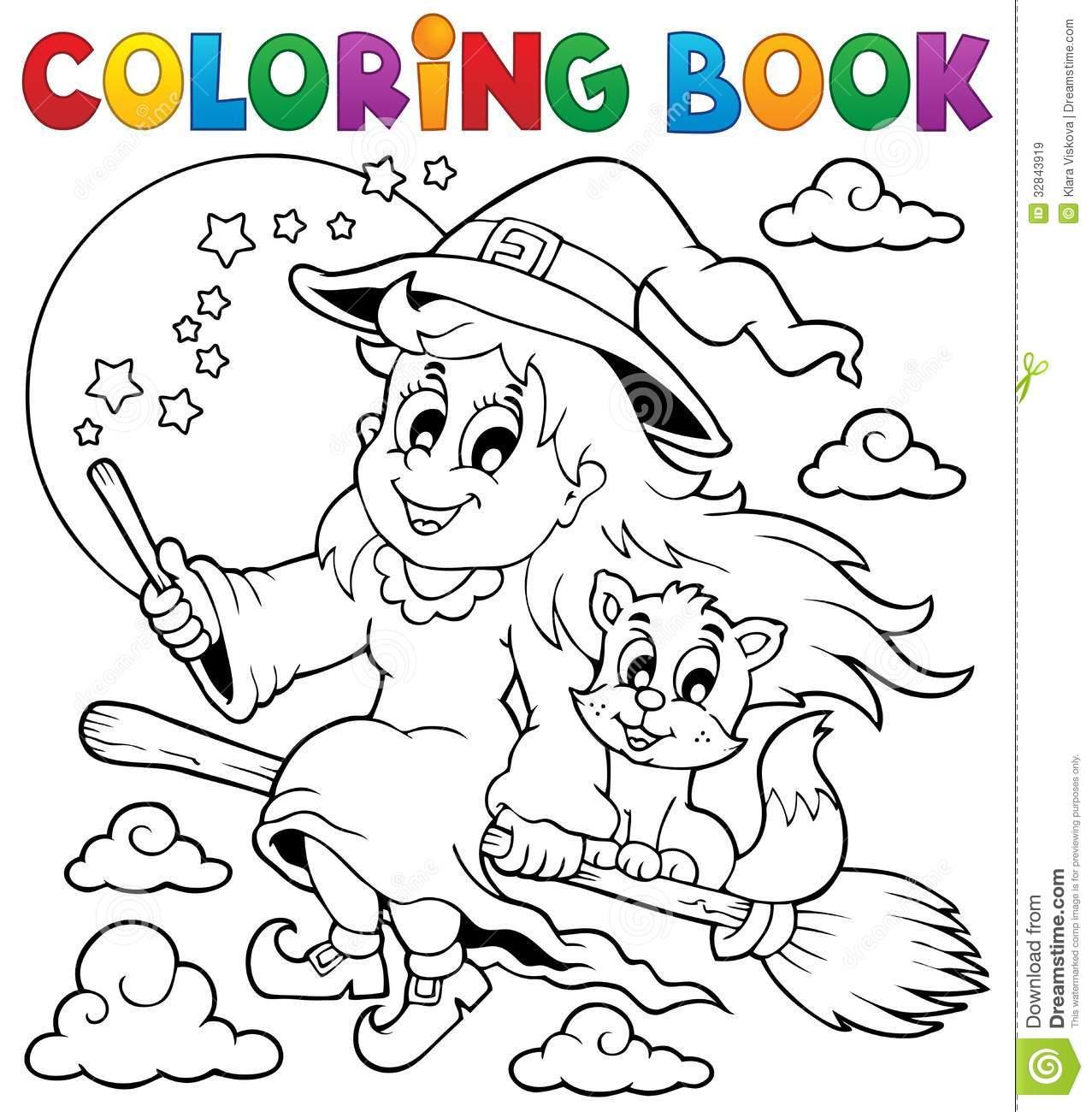 Livro Para Colorir  Caráter De Dia Das Bruxas (diabo) Ilustração