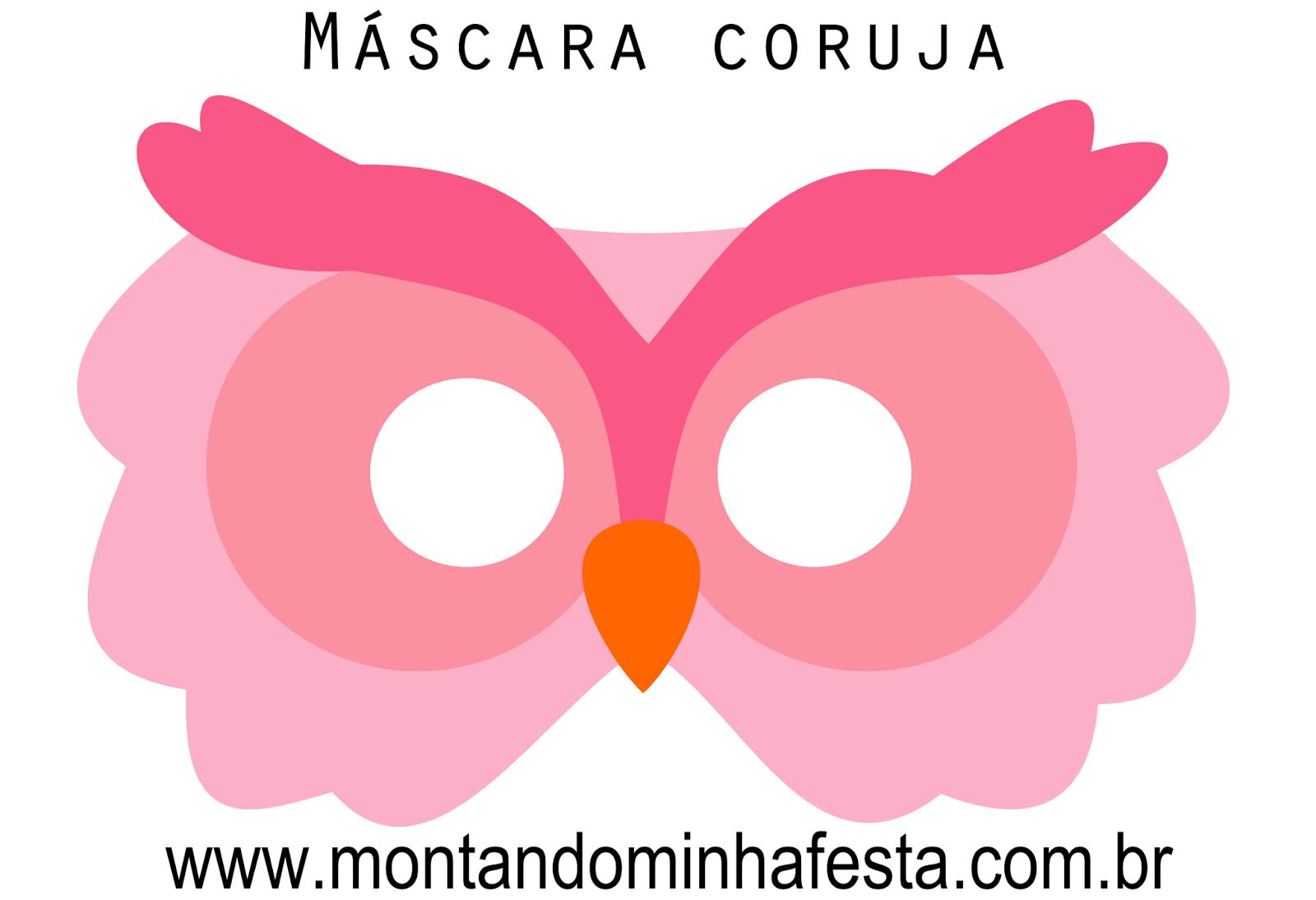 Máscara Coruja Grátis Para Imprimir