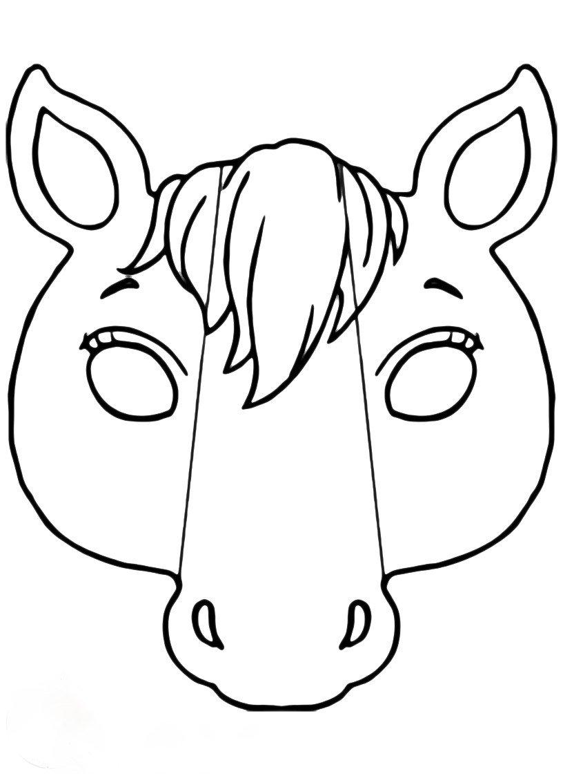 Ma Scaras De Animais Para Colorir E Imprimir Free Coloring Pages