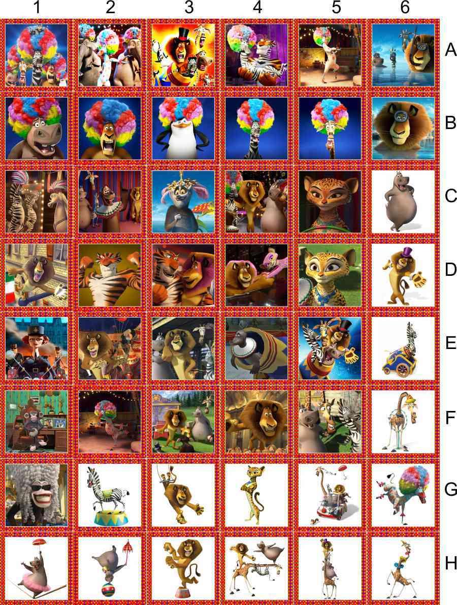 Madagascar 3 Jogo Da Memória