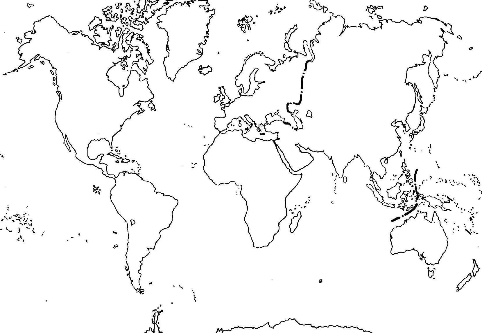 Mapa Mundi Para Colorear Related Keywords & Suggestions