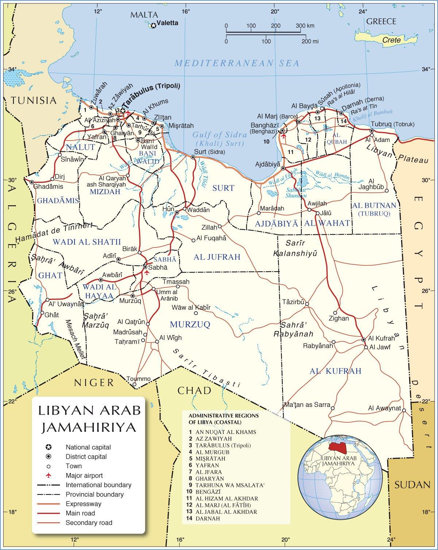 Mapas GeogrÁficos Da LÍbia
